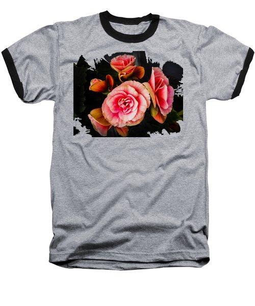 Bygone Begonias Baseball T-Shirt