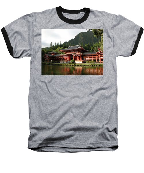 Baseball T-Shirt featuring the photograph Byodo-in Temple, Oahu, Hawaii by Mark Czerniec