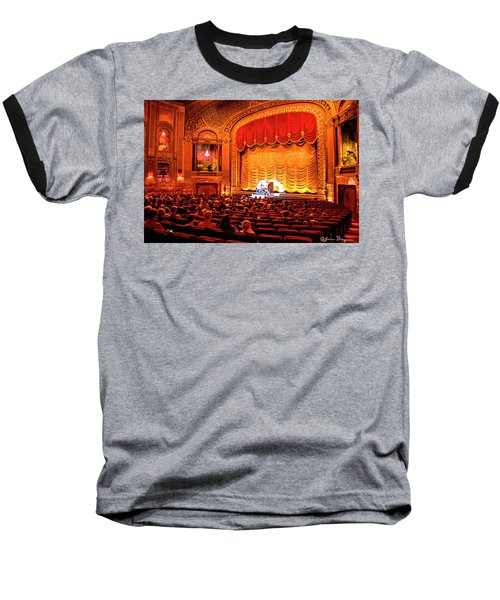 Baseball T-Shirt featuring the photograph Byrd Theatre Organist by Jean Haynes