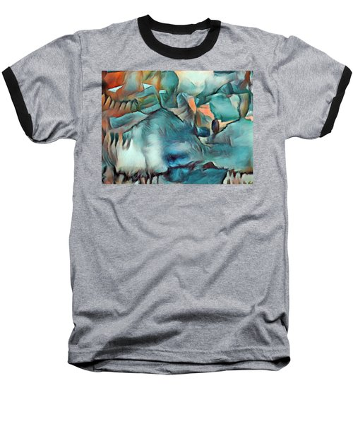 Byzantine Abstraction Baseball T-Shirt