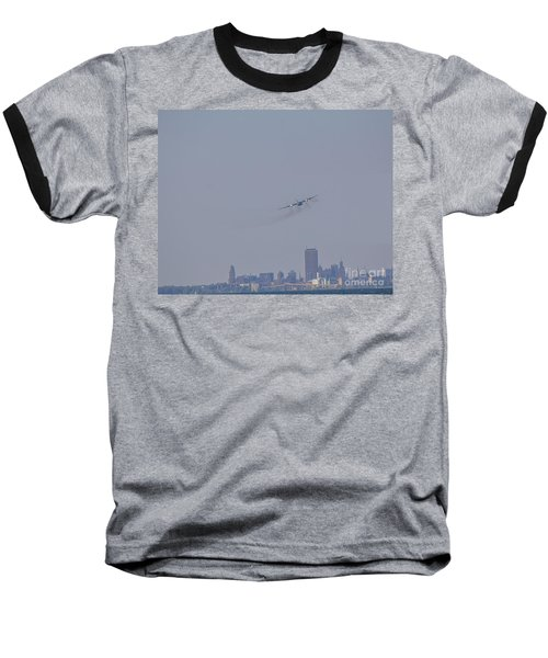 C130 Over Buffalo Baseball T-Shirt