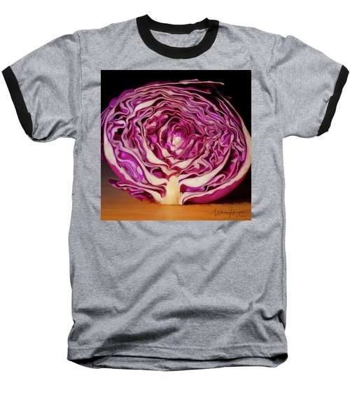Cabbage 01 Baseball T-Shirt by Wally Hampton