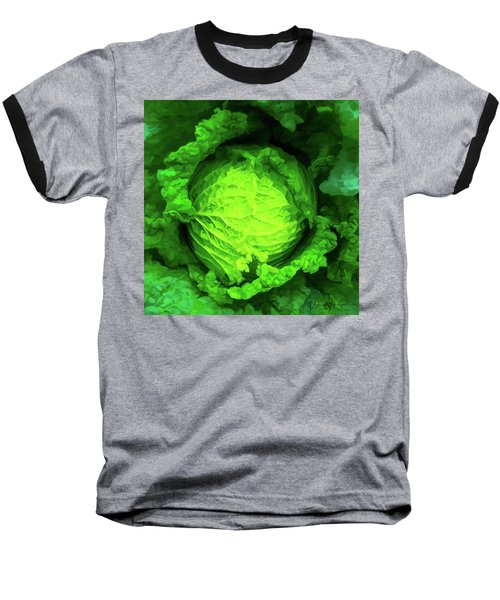 Cabbage 02 Baseball T-Shirt by Wally Hampton