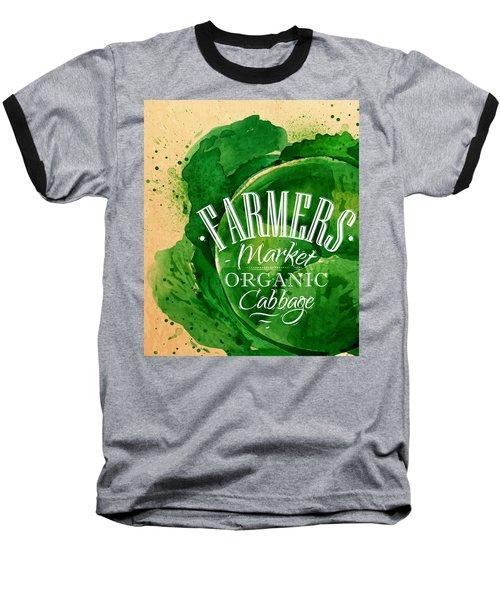 Cabbage Baseball T-Shirt by Aloke Creative Store