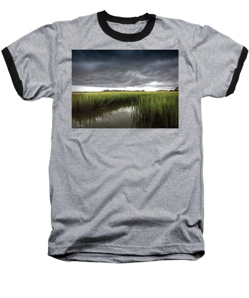 Baseball T-Shirt featuring the photograph Cabbage Inlet Cold Front by Phil Mancuso