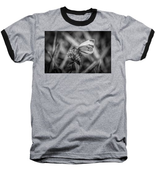 Cabbage White In Gray Baseball T-Shirt