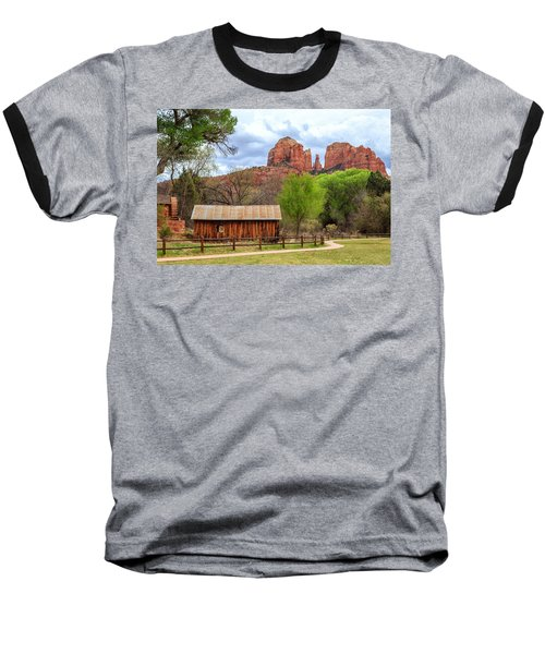 Baseball T-Shirt featuring the photograph Cabin At Cathedral Rock by James Eddy