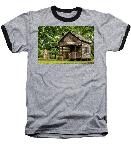 Cabin At Fort Washita Baseball T-Shirt
