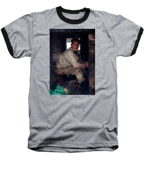 Cabin Boy Baseball T-Shirt by Henry Scott Tuke