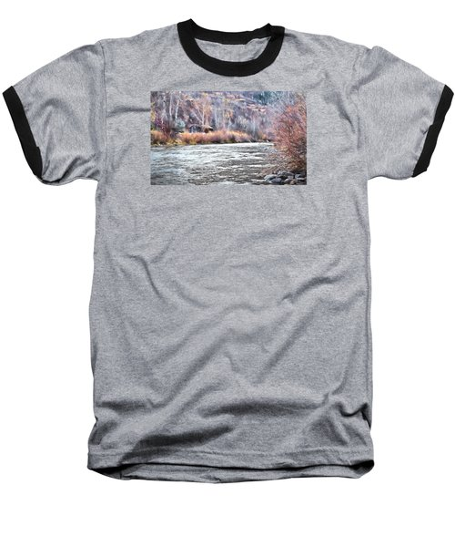 Baseball T-Shirt featuring the photograph Cabin By The River In Steamboat,co by James Steele