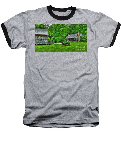 Baseball T-Shirt featuring the photograph Cabin Fever Great Smoky Mountains Art by Reid Callaway