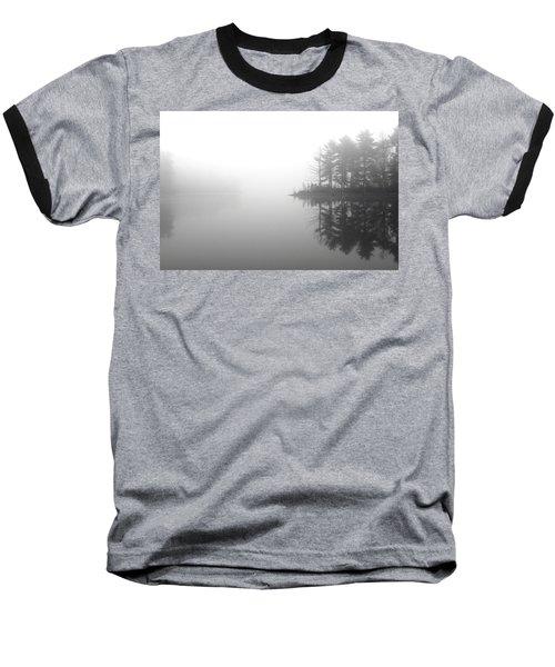 Cabin In The Foggy Woods Baseball T-Shirt