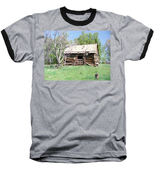 Cabin In The Mountains Baseball T-Shirt