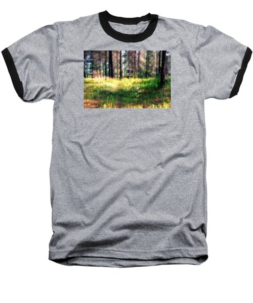 Baseball T-Shirt featuring the photograph Cabin In The Woods In Menashe Forest by Dubi Roman