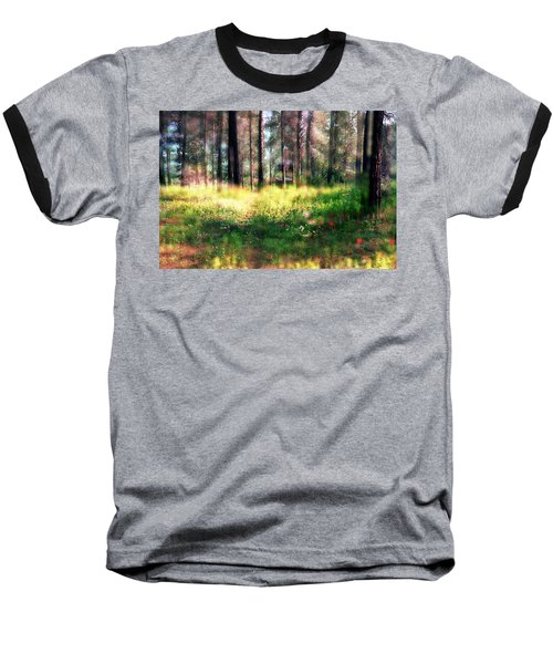 Cabin In The Woods In Menashe Forest Baseball T-Shirt