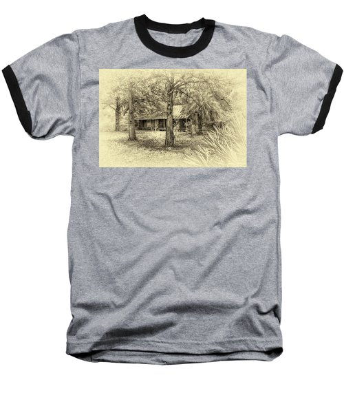 Baseball T-Shirt featuring the photograph Cabin In The Woods by Louis Ferreira