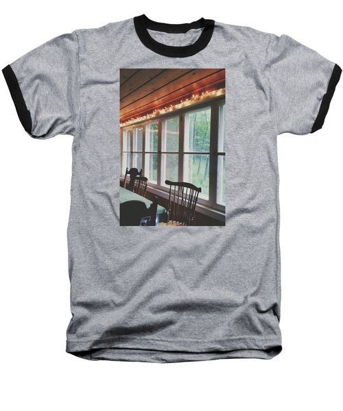 Baseball T-Shirt featuring the photograph Cabin In The Woods by Nikki McInnes