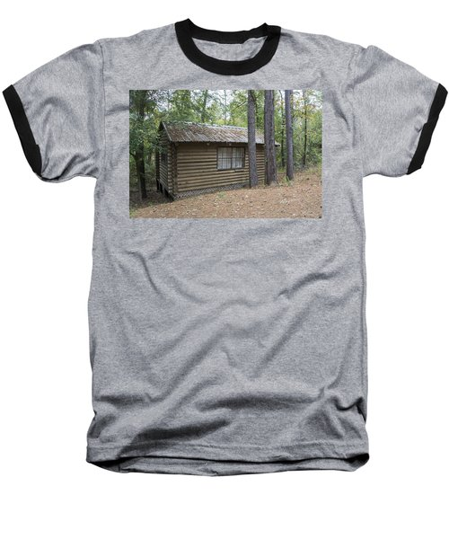 Cabin In The Woods Baseball T-Shirt by Ricky Dean