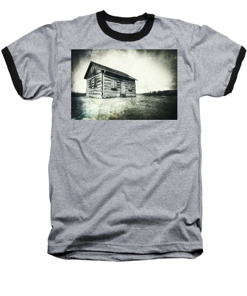Baseball T-Shirt featuring the photograph Cabin Near Paradise Springs - Kettle Moraine State Forest by Jennifer Rondinelli Reilly - Fine Art Photography