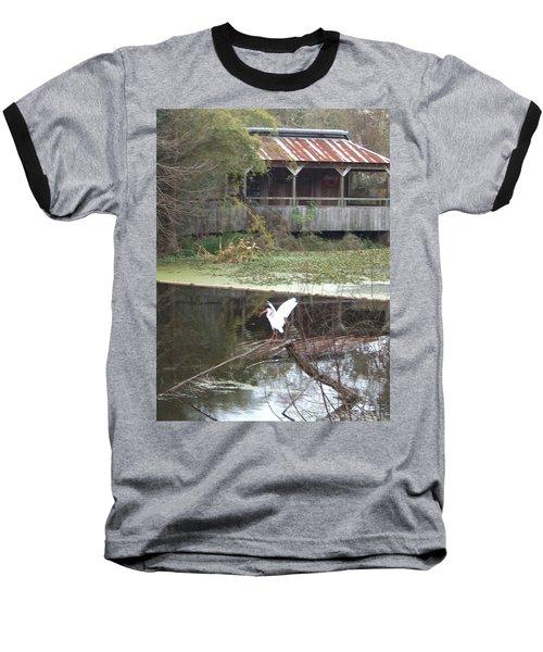 Cabin On The Bayou Baseball T-Shirt
