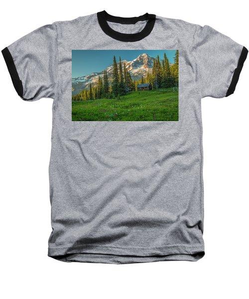 Cabin On The Hill Baseball T-Shirt