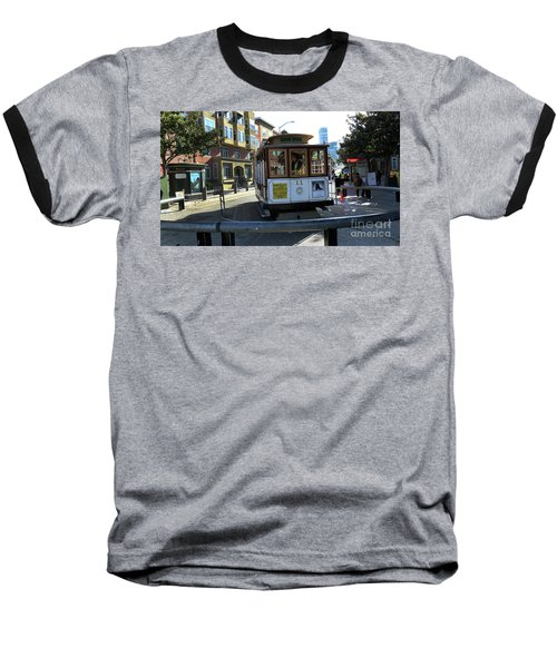 Baseball T-Shirt featuring the photograph Cable Car Turnaround by Steven Spak