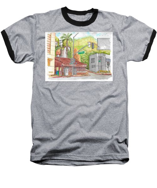 Cabo Cantina, Sunset Blvd And Sweetzer Ave., West Hollywood, California Baseball T-Shirt by Carlos G Groppa