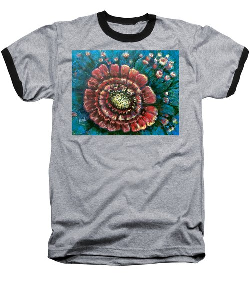Baseball T-Shirt featuring the painting Cactus # 2 by Laila Awad Jamaleldin