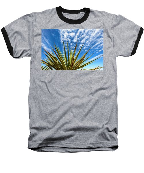 Cactus And Blue Sky Baseball T-Shirt by Amyn Nasser