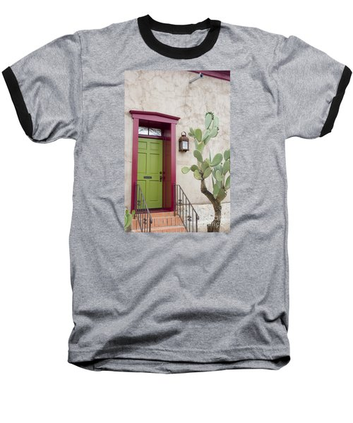 Cactus And Doorway Baseball T-Shirt