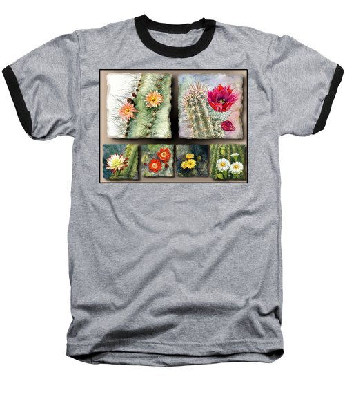 Baseball T-Shirt featuring the painting Cactus Collage 10 by Marilyn Smith