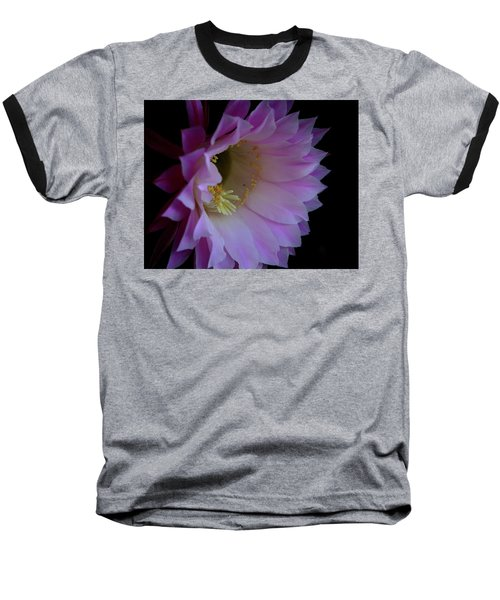 Cactus Easter Lily Bright Baseball T-Shirt by Marna Edwards Flavell