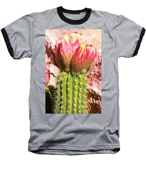 Cactus Flowe Bee Baseball T-Shirt