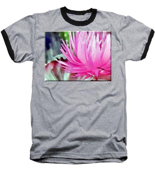 Cactus Flower Baseball T-Shirt by Mikki Cucuzzo
