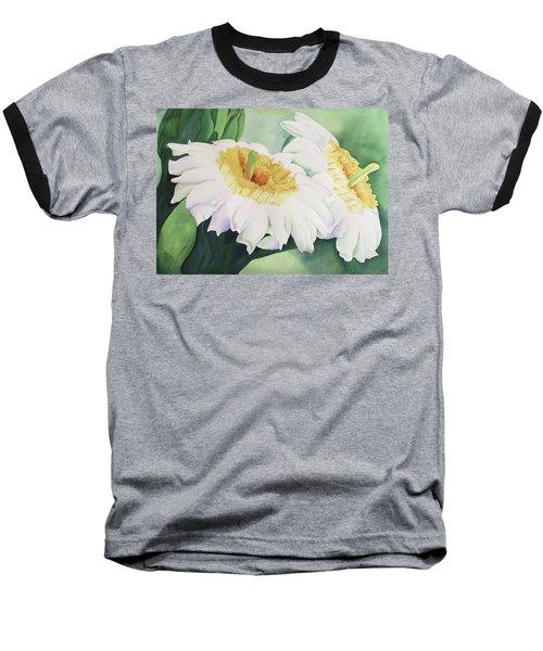 Cactus Flower Baseball T-Shirt by Teresa Beyer
