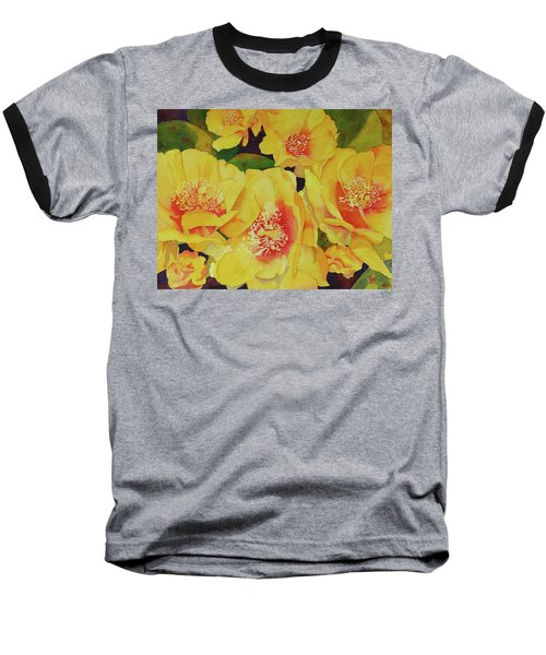Cactus Flowers Baseball T-Shirt