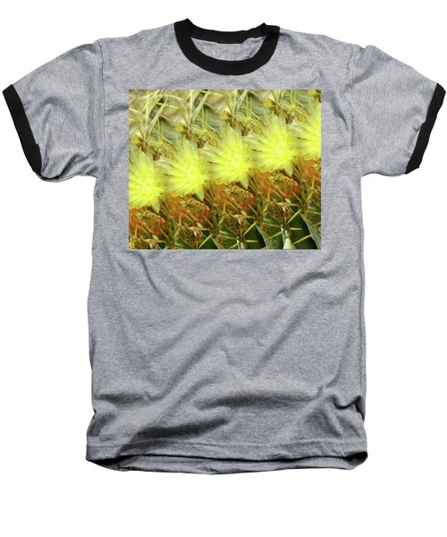 Baseball T-Shirt featuring the photograph Cactus Flowers by Kathy Bassett