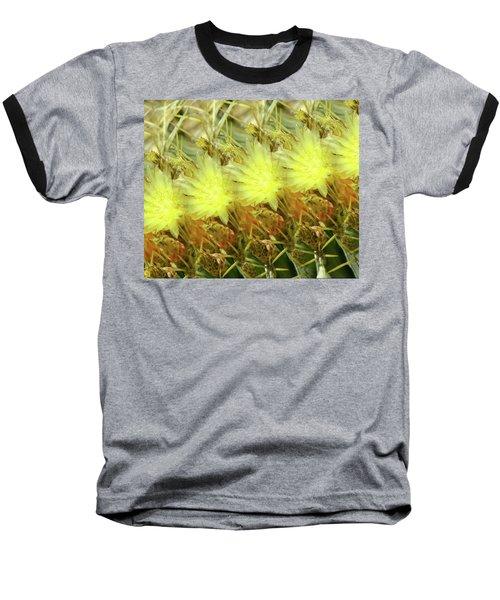 Cactus Flowers Baseball T-Shirt by Kathy Bassett