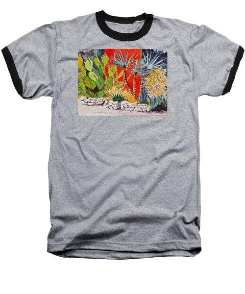 Cactus Garden  Baseball T-Shirt by Fred Jinkins