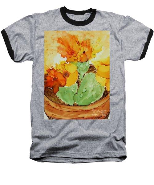 Cactus In A Pot Baseball T-Shirt