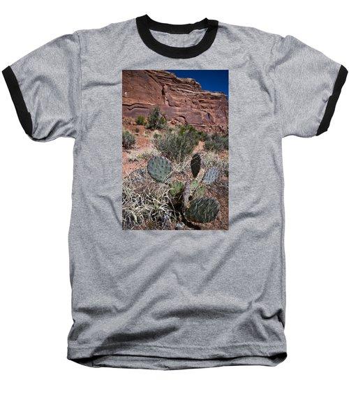 Cactus In Arches Nat'l Park Baseball T-Shirt
