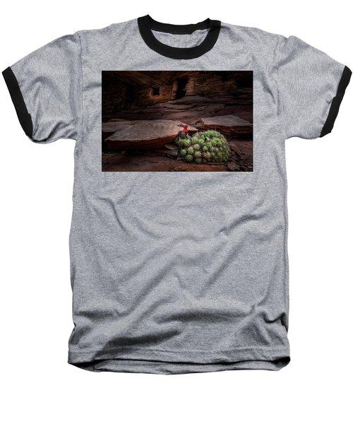Cactus On Fire Baseball T-Shirt
