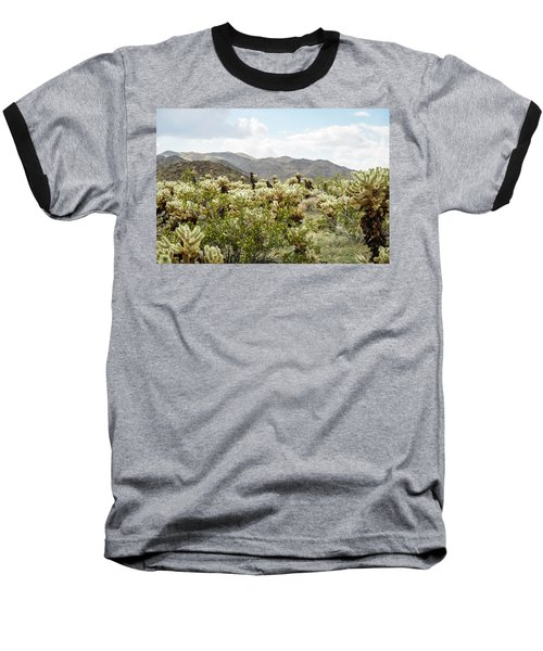 Cactus Paradise Baseball T-Shirt by Amyn Nasser