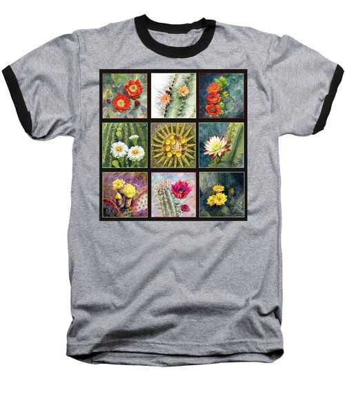 Baseball T-Shirt featuring the painting Cactus Series by Marilyn Smith