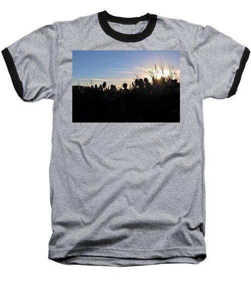 Baseball T-Shirt featuring the photograph Cactus Silhouettes by Matt Harang