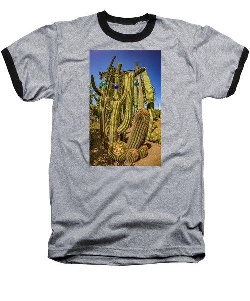Cactus Skyscraper Baseball T-Shirt