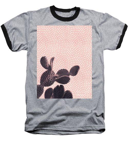 Cactus With Polka Dots Baseball T-Shirt