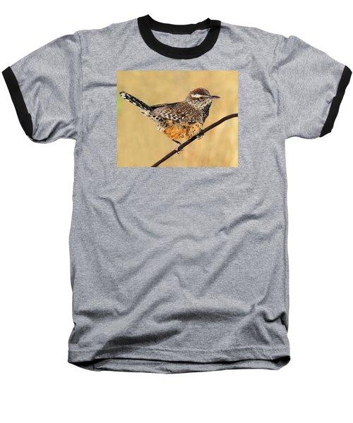 Cactus Wren Baseball T-Shirt by Tony Beck
