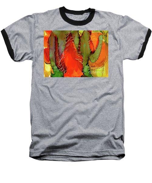 Baseball T-Shirt featuring the painting Cactus by Yolanda Koh