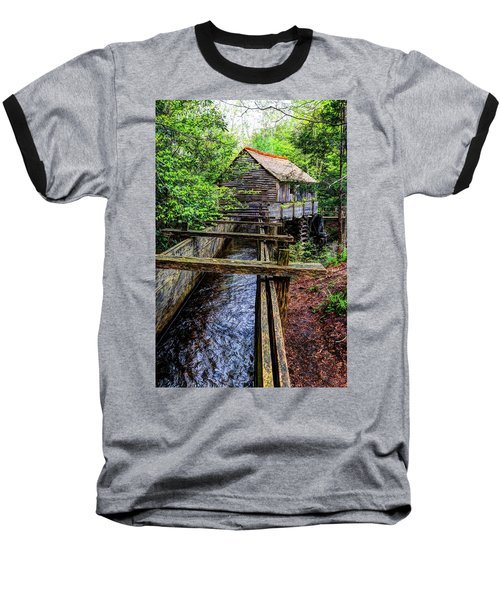Cades Cove Grist Mill In The Great Smoky Mountains National Park  Baseball T-Shirt